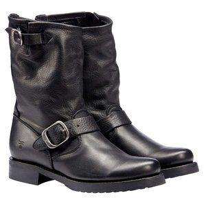 Frye Ladies Veronica Black Moto Engineer Boot NEW